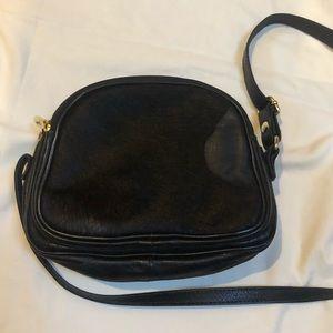 Valentina Bags - Valentina Black Leather Pony Hair Crossbody bag